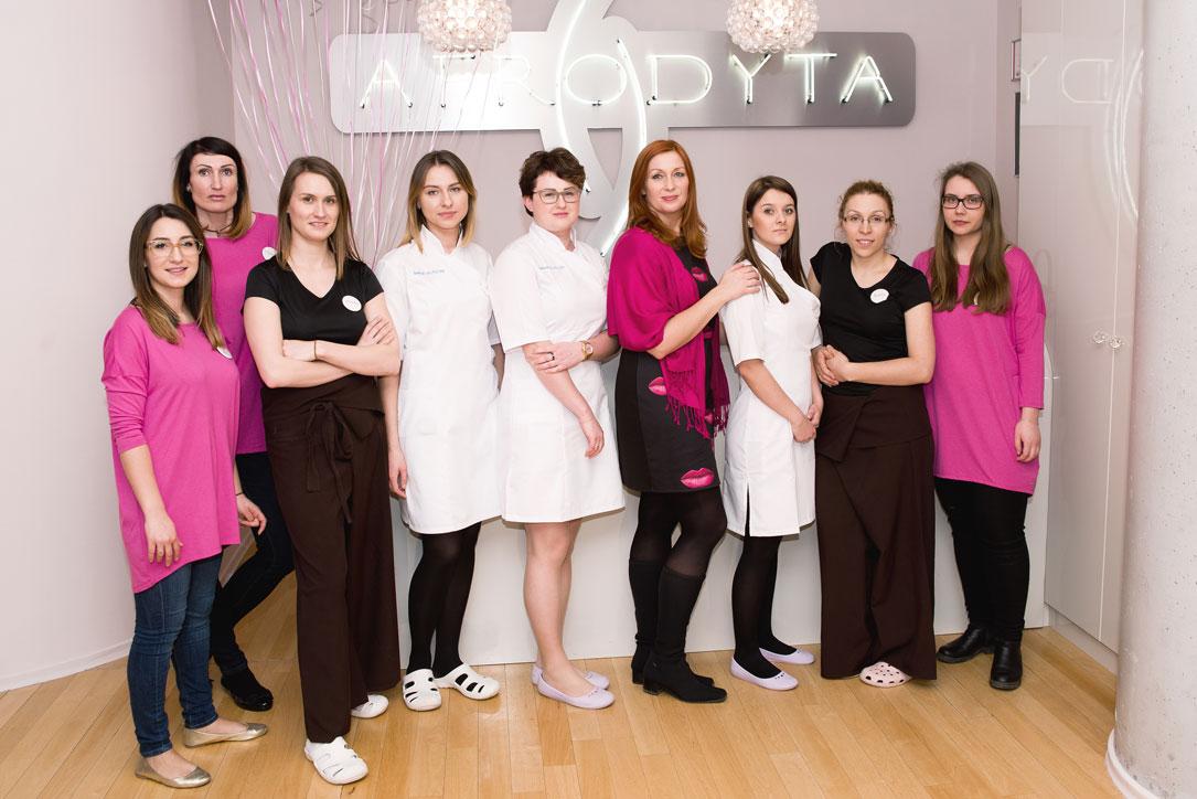 zespół - salon kosmetyczny Afrodyta Warszawa